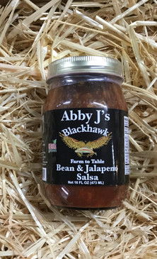 Abby J's Blackhawk Bean and Jalapeño Salsa