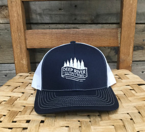 DRO Trees and Stream Logo Navy and White Hat