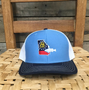DRO Georgia Bass Columbia Blue White Navy Hat