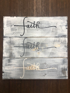 Johnston & Son Faith Sign