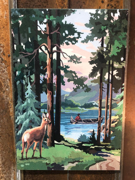 Deer in Woods Painting