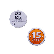 15 Years of Geocaching Official Nano Geocoin