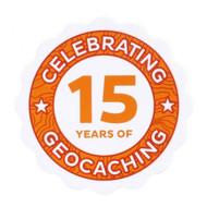 15 Years of Geocaching Sticker