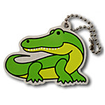 Alvin the Alligator Travel Tag