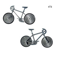 Bicycle - Antique Silver
