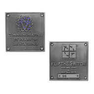 Blue Switch Geocoin - Silver (Limited Edition)