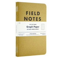 Field Notes Kraft Graph Paper 3-Pack