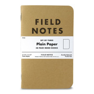 Field Notes Kraft Plain Paper 3-Pack