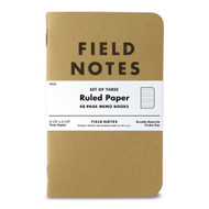 Field Notes Kraft Ruled Paper 3-Pack