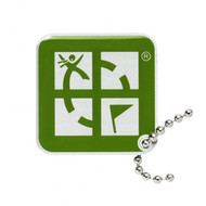 Geocaching Logo Travel Tag- Green