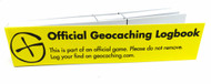 Long Micro Geocaching Logbook - Yellow - 200 Logs