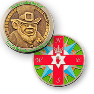 Luck of the Find Geocoin - Ant bronze/pol nickel