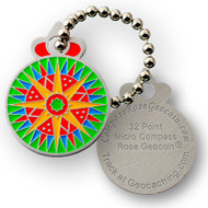 Micro Compass Rose Tag - 32 Point