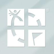 "White 4""x 4"" Geocaching Logo Vinyl Decal"