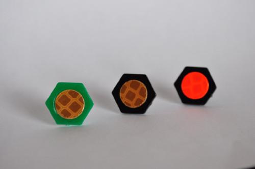 GeoTacks, L to R, Woodland/Stealth, Black/Stealth, Black/Blaze