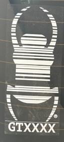 White Travel Bug Sticker (7cm x 16.5cm)