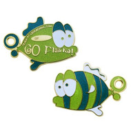 Limited Edition Geocoin Go Fish - Green