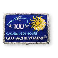 100 Finds in 24 Hours Geo-Achievement™ Patch
