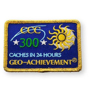 300 Finds in 24 Hours Geo-Achievement™ Patch