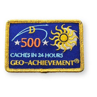 500 Finds in 24 Hours Geo-Achievement Patch