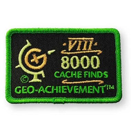 8000 Finds Geo-Achievement™ Patch