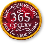 365 Days of Geocaching Geo-Achievement Patch