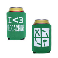 Geocaching Stubby Holder - Green