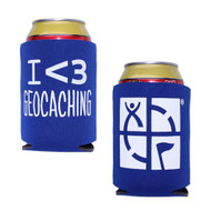 Geocaching Stubby Holder - Blue