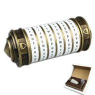 Cryptex (Metal Gold w/ White Characters) - 6 Characters