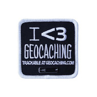 I <3 Geocaching Trackable Patch