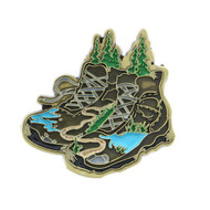 Trekking Around the World Geocoin