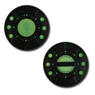 Alien Spaceship Geocoin + Travel Tag Set