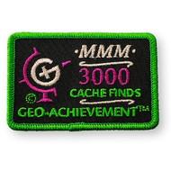 3000 Finds Geo-Achievement Patch