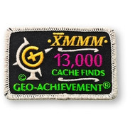 13000 Finds Geo-Achievement Patch