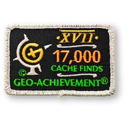 17000 Finds Geo-Achievement Patch