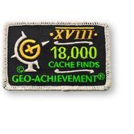 18000 Finds Geo-Achievement Patch