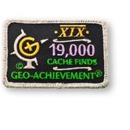19000 Finds Geo-Achievement Patch