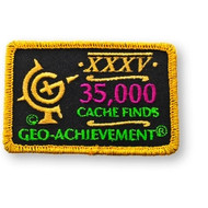 35000 Finds Geo-Achievement Patch