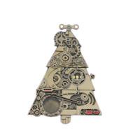 Steampunk Christmas Geocoin and Pin Set