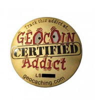 Geocoin Addict - Satin Gold Geocoin