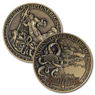 Crossing the Line - Trusty Shellback Coin
