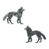 Steampunk Werewolf Geocoin