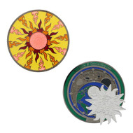 Summer Solstice Geocoin - Red Sun