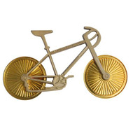 Bicycle Geocoin - Two Tone (Antique Nickel and Antique Copper)
