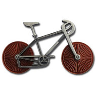 Bicycle Geocoin - Two Tone (Satin Nickel and Gold)