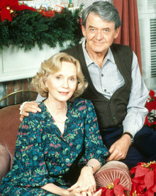 Eva Marie Saint & Hal Holbrook in I'll Be Home For Christmas (1988) Poster and Photo