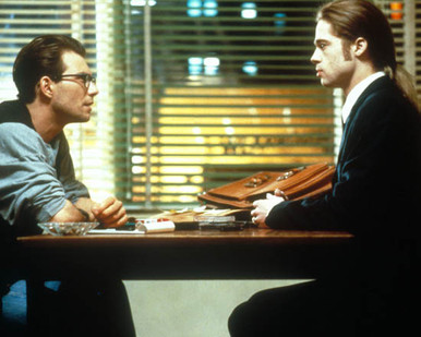 Brad Pitt & Christian Slater in Interview with the Vampire: The Vampire Chronicles Poster and Photo