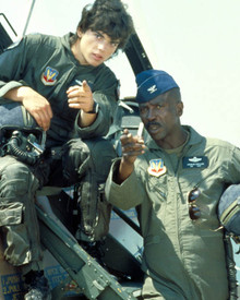 Jason Gedrick & Louis Gossett Jr. in Iron Eagle Poster and Photo