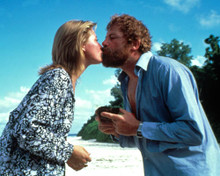Oliver Reed & Amanda Donohoe in Castaway Poster and Photo