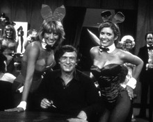 Hugh M. Hefner & Carrie Fisher in Laverne and Shirley Poster and Photo